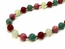 Bijou collier multi pierres cornaline agathe rhodonite necklace