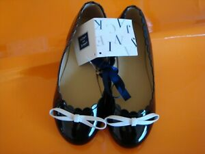 NWT $59 Janie And Jack Girls Patent Bow Flat Shoes  12