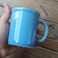 Vintage RIO Stoneware Japan Teal  Rim 12 oz Coffee Mug Cup