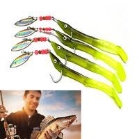 Lures Fishing Bait Fish Plastic Silicone Sea Swimbait Shad Lot Baits Spoon FEH