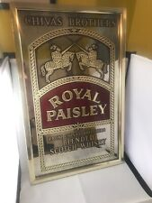 Chivas Royal Paisley Scotch Whisky Bar Glass Mirror Sign Man Cave