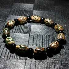 Excellent Magic Old Tibetan Agate *3 Eyes* Amulet Dzi Beads Bracelet