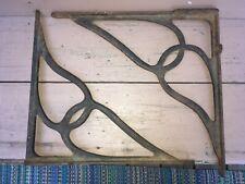 Pair of Antique Art Nouveau Cast Iron Sink Shelf Bracket Exterior Corbel