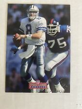 1992 PRO LINE PROFILES TROY AIKMAN CERT. AUTO SIGNATURE DALLAS COWBOYS HOF #7