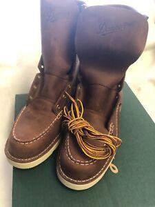 "Danner Boots Men's 8"" Bull Run Moc Toe TOBACCO 15541 Sizes 8-13, D &  EE"