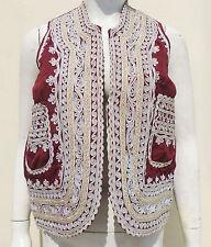 Kuchi Afghan Vintage Ethnic Boho Hippy Waistcoat Ladies Embroidery Vest KWC-57