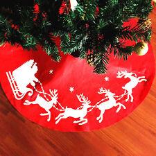 COUNTRY CHRISTMAS Red Whimsical Santa Christmas Tree Skirt  39.3'' Hot