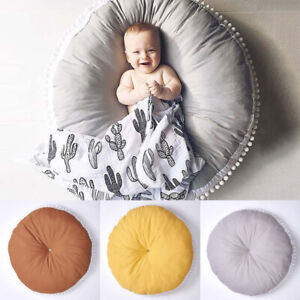 Baby Soft Cotton Play Mat Rug Carpet Crawling Round Blanket Playmat Home Decor