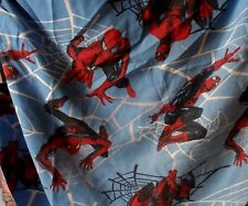Spiderman Twin Fitted Sheet. Dan River, 70% Polyester, 30% Cotton - Bright