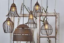 Hängelampe Landhaus Shabby Chic Vintage Kupfer Rost Bronze Draht Metall