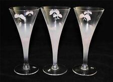 Set of 3 Pink Butterfly Glassware Liquor Cocktail Cordials or Apertif