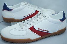 D&G Dolce & Gabbana Men's Shoes Sneakers White Size 44 Leather Vit Nappato NIB