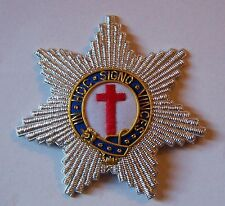 Medieval Masonic Knights Templar Star Badge Patch Cross In Hoc Signo Vinces Case