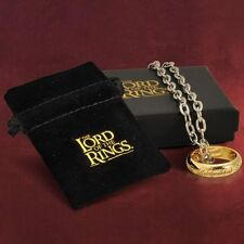 Lord of the Rings Costume Jewellry The One Ring with chain  -  A Precious thing