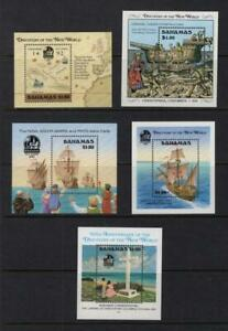 Bahamas 1988-1992 Columbus Sheetlets - OG MNH - SC# 644, 667, 692, 729 & 753