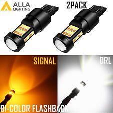 7444 LED Front Turn Signal Light Bulb Blinker Switchback Dual Bi-color Flashback