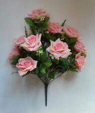 """20"""" Pink Diamond Rose Bouquet Silk Flower Home Office Kitchen Wedding Decor"""
