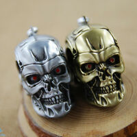 Trendy Men's Gold/Silver plated Keychain Skull Shape Cool Pendant Keyring 1Pcs