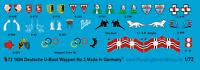 Peddinghaus-Decals 1/72 1604 german submarines conningtower markings No 3