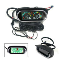 2IN 1 Universal Car Truck Oil Pressure Gauge + Voltmeter Voltage Gauge Sunshield
