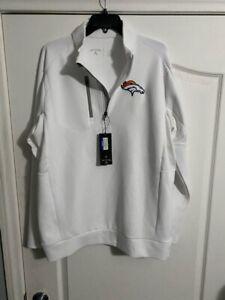 NWT Antigua Golf XL NFL Denver Broncos 1/3 Zip Pullover