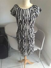 Polyester Animal Print Dresses for Women with Cap Sleeve