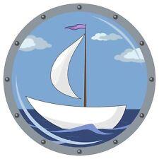 Sail Boat Sailing Scene Marine Circle Day Sticker Decal Graphic Vinyl Label V1