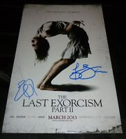 """ELI ROTH +ASHLEY BELL Hand-Signed """"THE LAST EXORCISM PART 2"""" 11x17 Photo (PROOF)"""