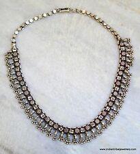 vintage antique tribal old silver choker necklace handm