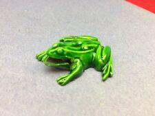 Vintage Shackman Small Green Metal Frog 1.5� Charm Pendant Mint!