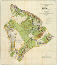 Hawaii Territory Survey Hawaii c1906 map repro 24x27