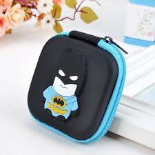 NEW Batman Blue Cartoon Kids Boys Girls Rubber Coin Purse Wallet Headset Bag