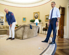 PRESIDENT BARACK OBAMA MEETS WITH ACTOR BILL MURRAY 8X10 PHOTO 2016