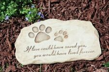 Pet Paw Print Devotion Garden Stone Memorial Grave Marker Yard Headstone Dog Cat