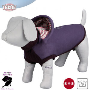Trixie Dog Salento Pullover slot to attach leash thick fleece & synthetic wool