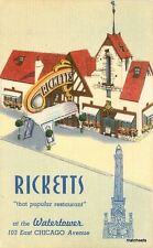 1940s Ricketts Restaurant roadside Linen Chicago Illinois Colorpicture10384