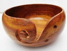 Designer Handmade Wooden Yarn Bowl Knitting Bowls Crochet Decorative Item Gift