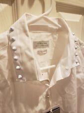 SPIKED COLLAR -- Medium Zara Men's Slim Fit White Dress Shirt Collar spike NWT