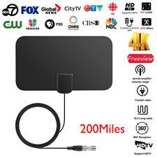 Ultra Thin Flat Indoor HDTV Amplified HD TV Signal Antenna 3M Coax 200 Mile