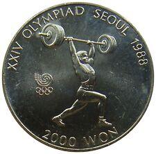 (B60) - Korea - 2000 Won 1988 - Gewichtheber - Olympische Spiele - UNC - KM# 53