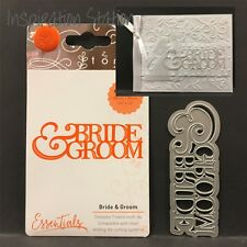 Bride and Groom metal die Tonic Studios cutting dies 1416E words,phrases,wedding