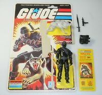 1985 GI Joe Snake Eyes v2 Timber Wolf Figure Triple Win File Card Back *Complete