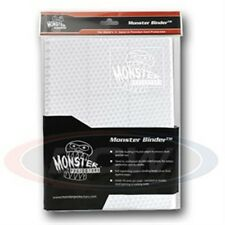 Monster Album Binder 9 Pocket Holofoil White With 20 White Sideloading Pages