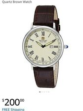 Steinhausen Watch Men's Dunn Analog Display Utra Thin Swiss Quartz water 3 ATM