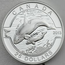 "Canada 2013 $25 Orca 1 oz. 99.99% Pure Silver Proof Coin ""O Canada"" Series #5"