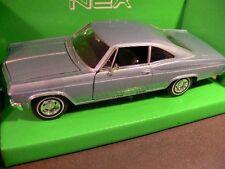 1/24 Welly Chevrolet Impala SS 396 1965 blau 22417