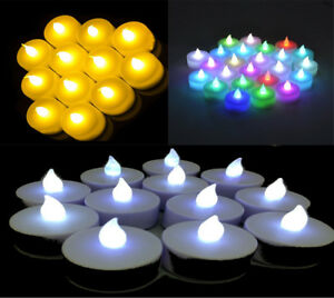 LED Flickering / Colour Changing Battery Operated Tea Light Candle Tea light