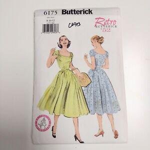 Butterick 6175 P410 Retro '52 Womens Dress Pattern Sz 8 - 12 NEW Uncut OOP Rare