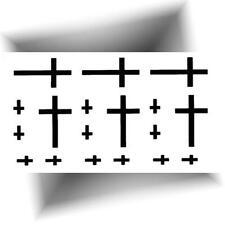 ►MINI TATOUAGE TEMPORAIRE CROIX (Petit tattoo éphémère noir / Provisoire)◄