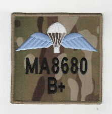 RAF Para Wings ZAP and blood group badge on MTP 9cm x 9cm hook & loop backed